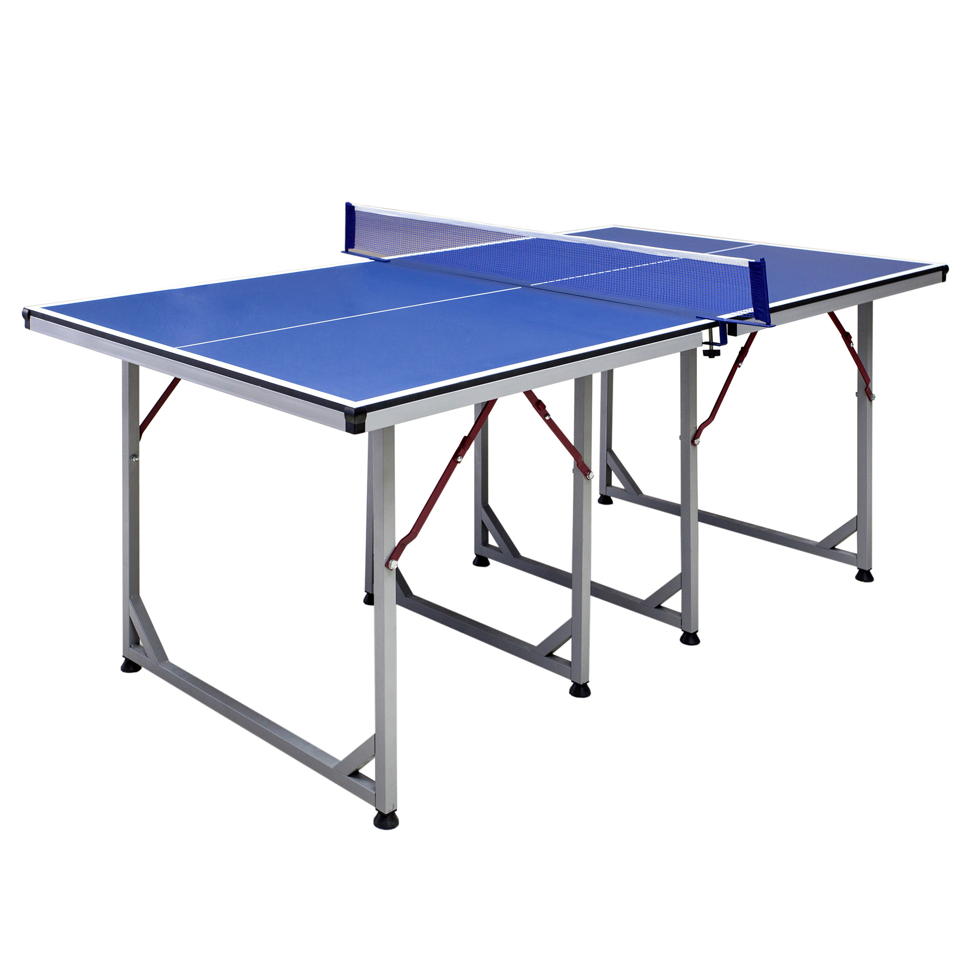Hathaway Reflex Mid-Sized Table Tennis Table, 6-ft, Blue