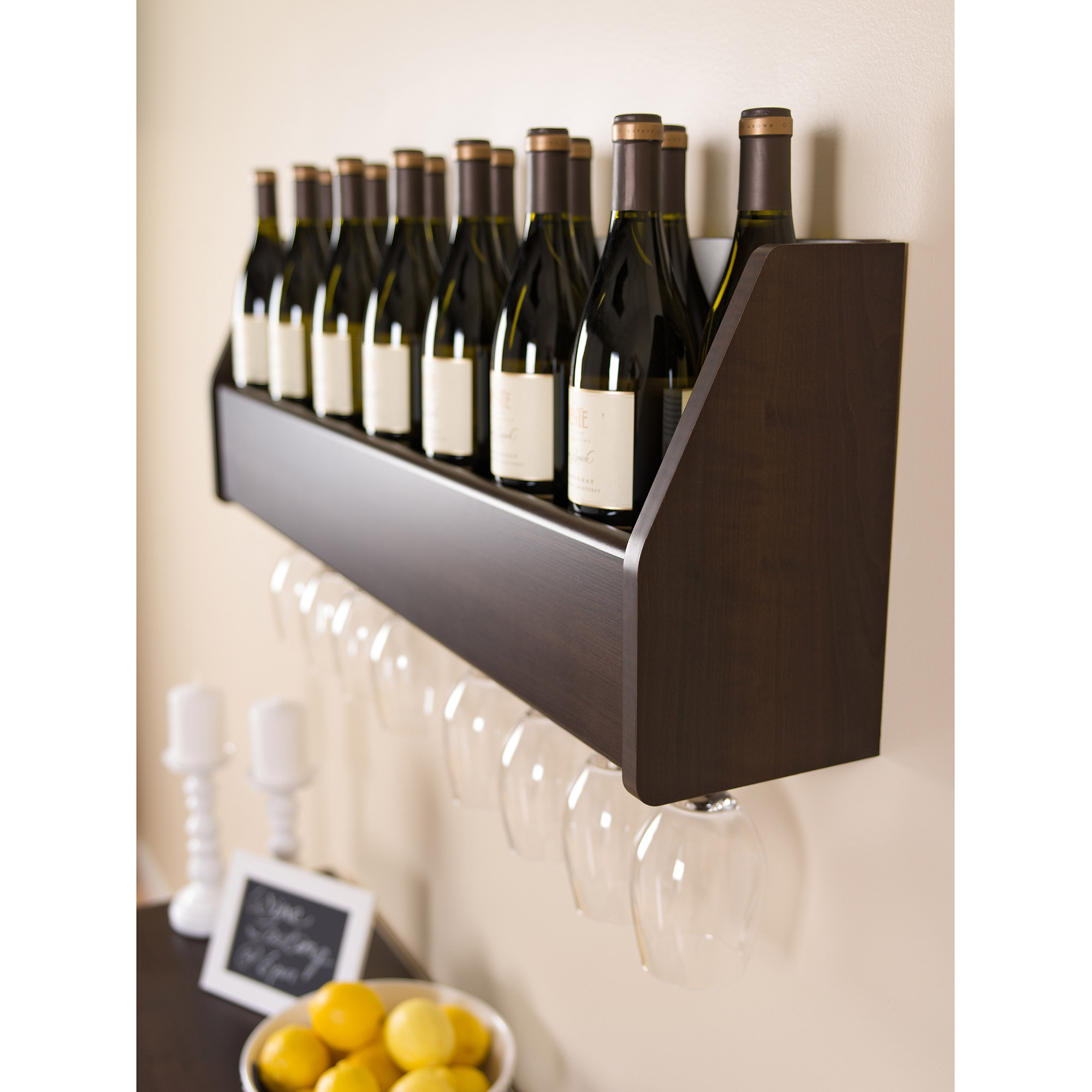 Floating 18-Bottle Wine Rack