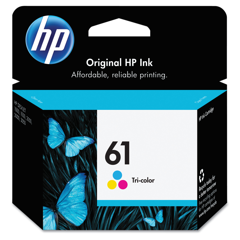 HP 61 Ink Cartridge, Tri-color (CH562WN) - Walmart.com ...
