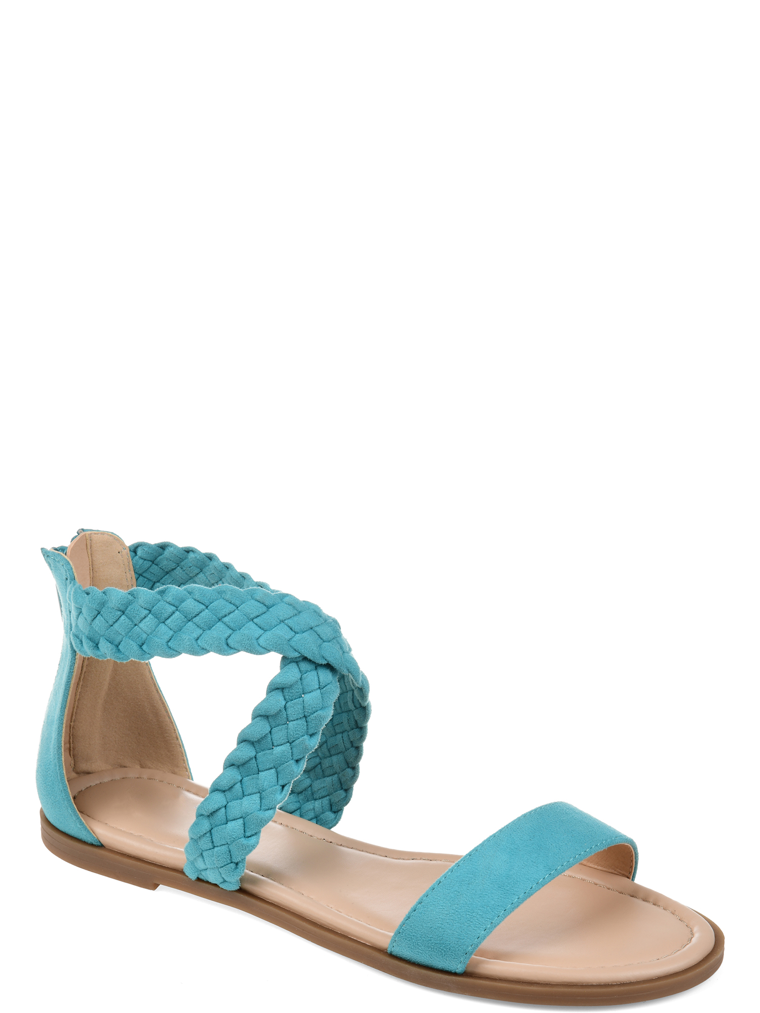 Brinley Co. Womens Comfort Woven Gladiator Sandal