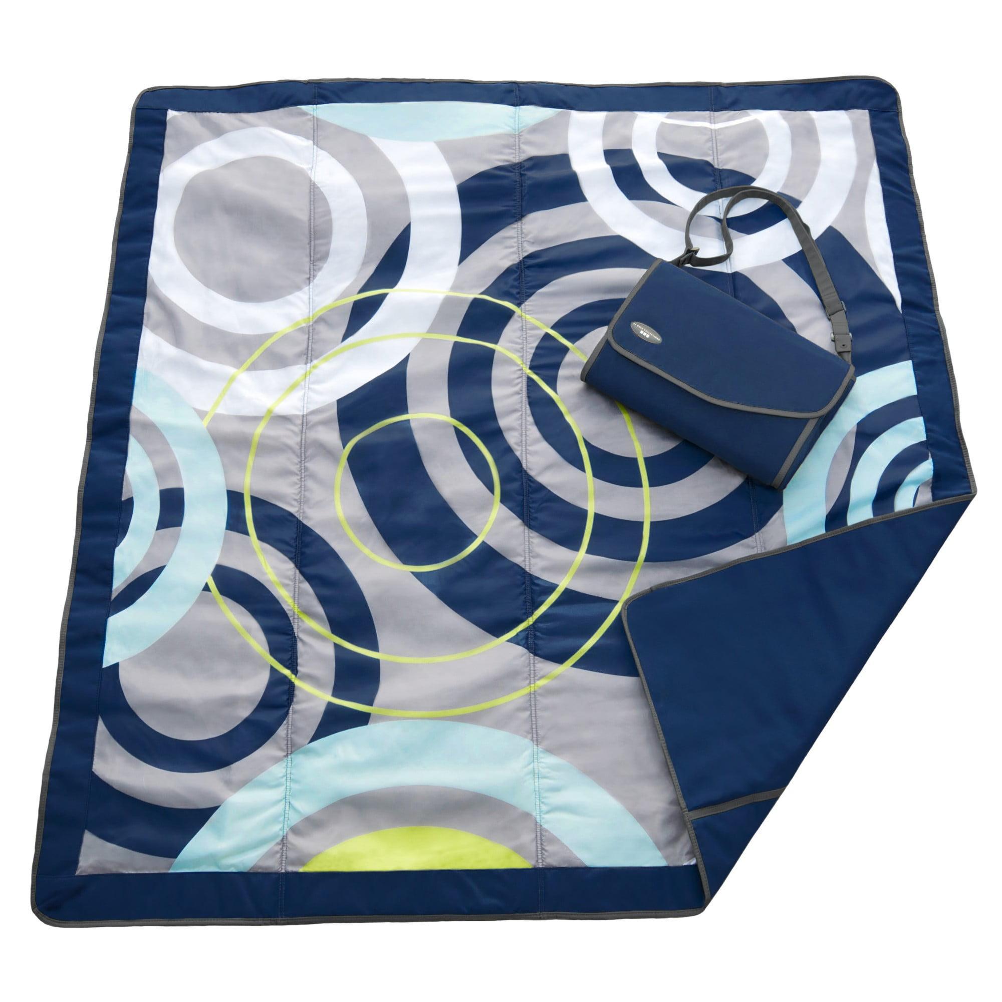 JJ COLE Outdoor Blanket - 7 X 5 - Blue Orbit
