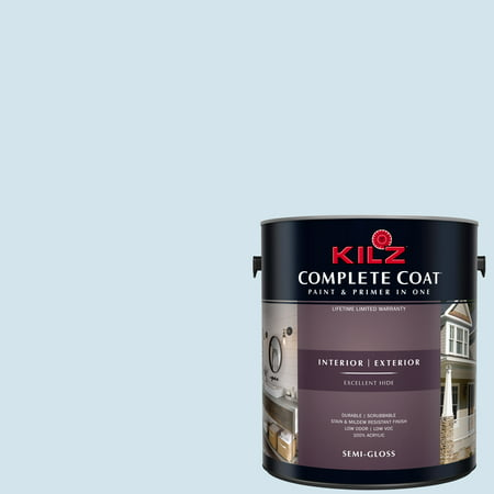 KILZ COMPLETE COAT Interior/Exterior Paint & Primer in One #RD190-01 Humid Weather