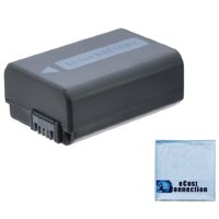 NP-FW50 2300mAh Battery for Sony DSLR Cameras + eCostConnection Microfiber Cloth