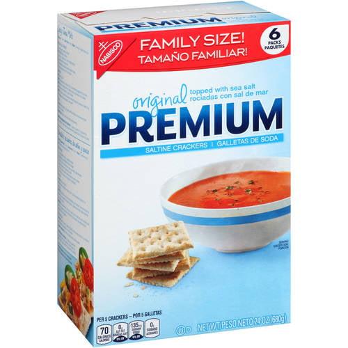 (2 Pack) Premium Original Saltine Crackers, 24.0 OZ
