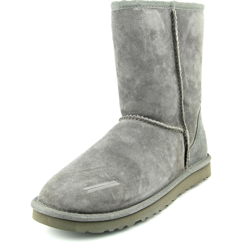 Ugg Australia Classic Short Women  Round Toe Suede Gray Winter Boot