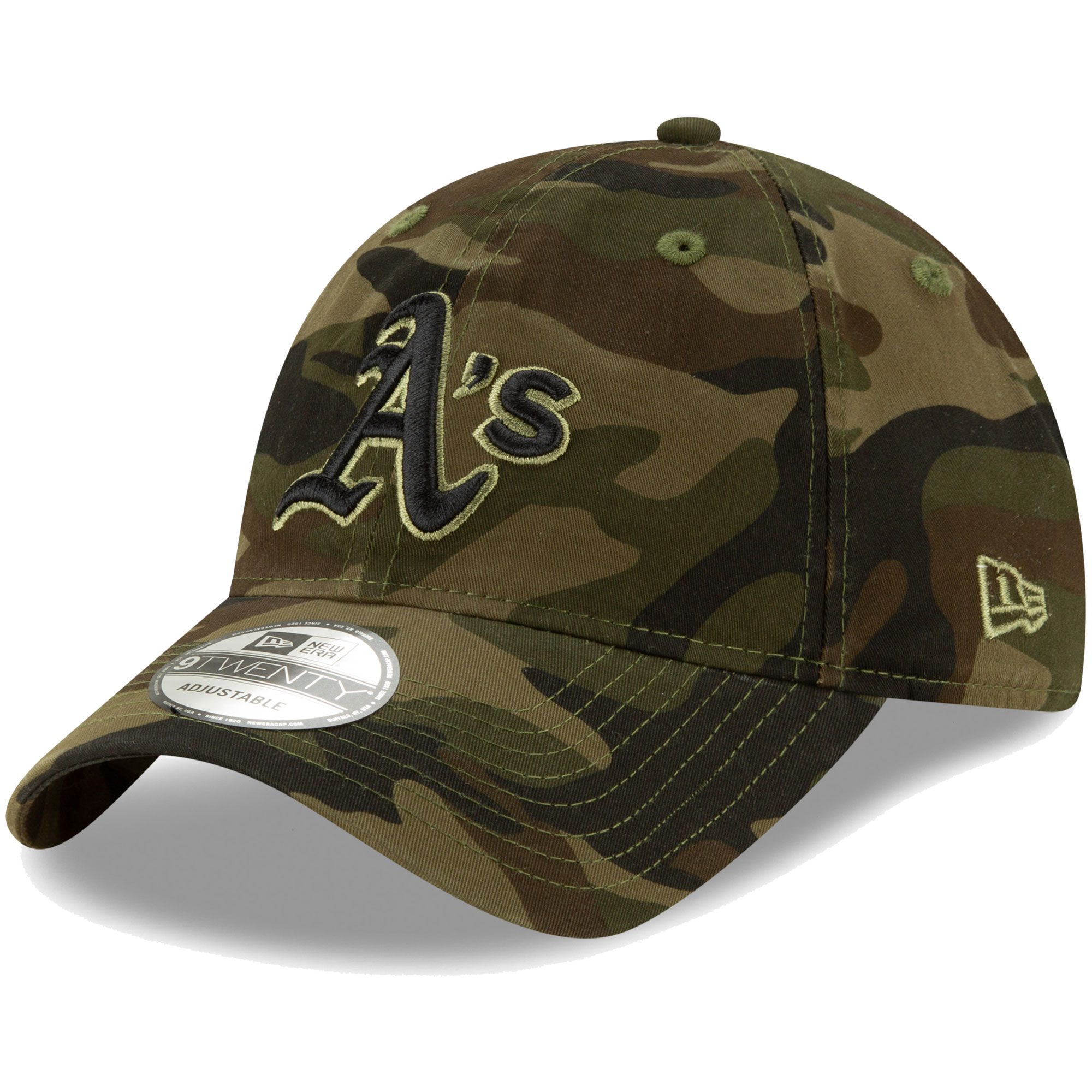 Oakland Athletics New Era Tonal Camo Core Classic 9TWENTY Adjustable Hat - Camo - OSFA