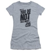 Fight Club - Rule 1 - Juniors Teen Girls Cap Sleeve Shirt - XX-Large