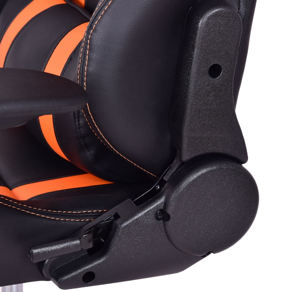 High-Back Reclining Racing Gaming Chair with Head-Rest Pillow - Orange