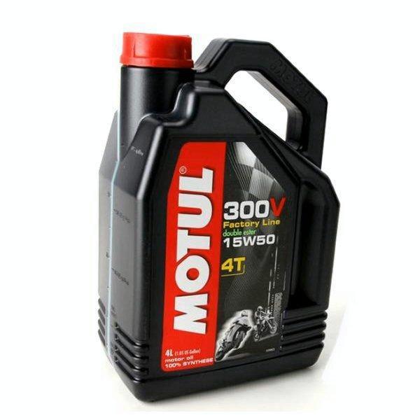 MOTUL 15W50 300V MOTORCYCLE OIL DOUBLE ESTER 4 LITER BOTTLE-ZZ 3601-0074