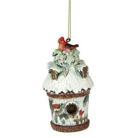 Cardinals Bb - Joseph's Studio Nature's Story Teller Cardinal Birdhouse Christmas Ornament