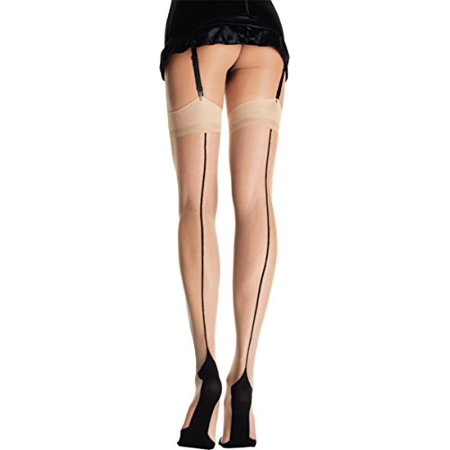 Nude with Black Cuban Foot Thigh High Adult Halloween Accessory, One Size, (4-14) - Nude Adult