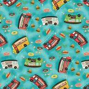 Wild Wings Food Truck Toss 100% Cotton Fabric By The Yard
