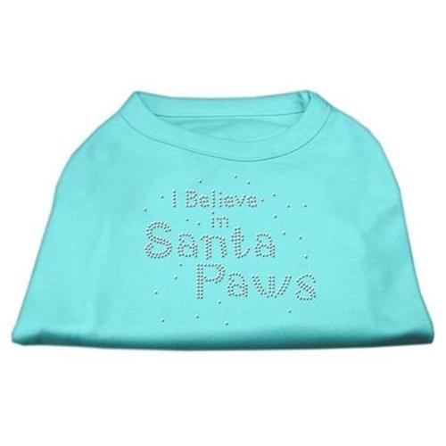 I Believe in Santa Paws Shirt Aqua L (14)