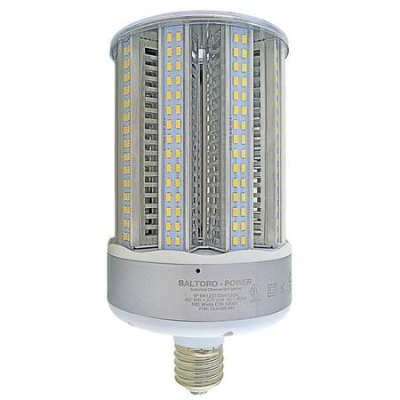 100w Hps - Baltoro CL6100-5k 100W LED Corn Bulb Replaces 500-700 Watt MH, HID, HPS & CFL Area Lighting, 5000K Cool White (E39) Large Mogul Screw Base, 360° Flood Light, UL-Listed and LDL-Qualified