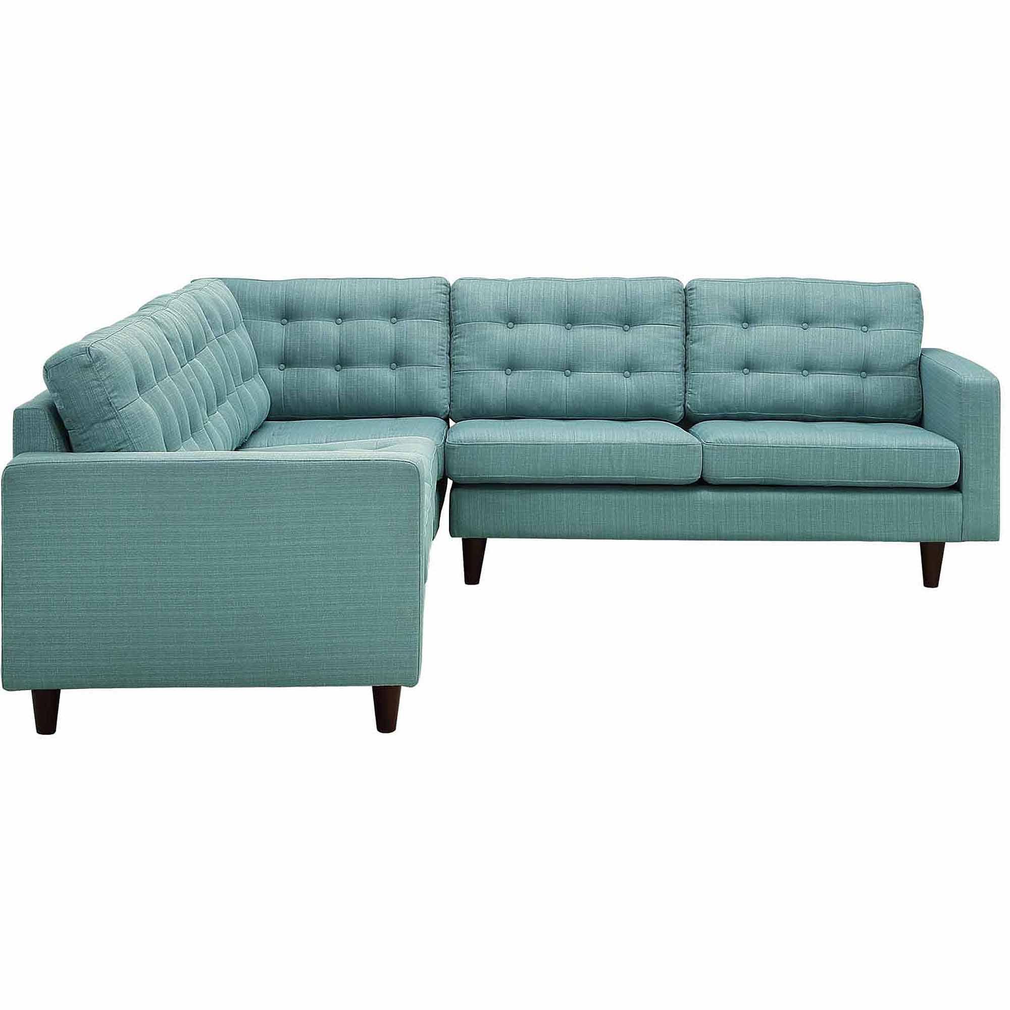 Modway Empress 3 Piece Fabric Sectional Sofa Set Multiple Colors