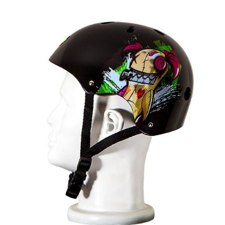 Punisher Skateboards Jinx 11-Vent Skateboard Helmet, Youth Size Medium, Black - image 1 de 1