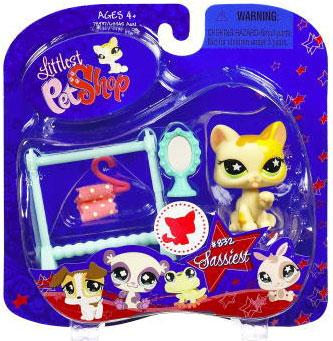 Littlest Pet Shop 2009 Assortment B Series 2 Cat Figure [Clothes Rack & Mirror]
