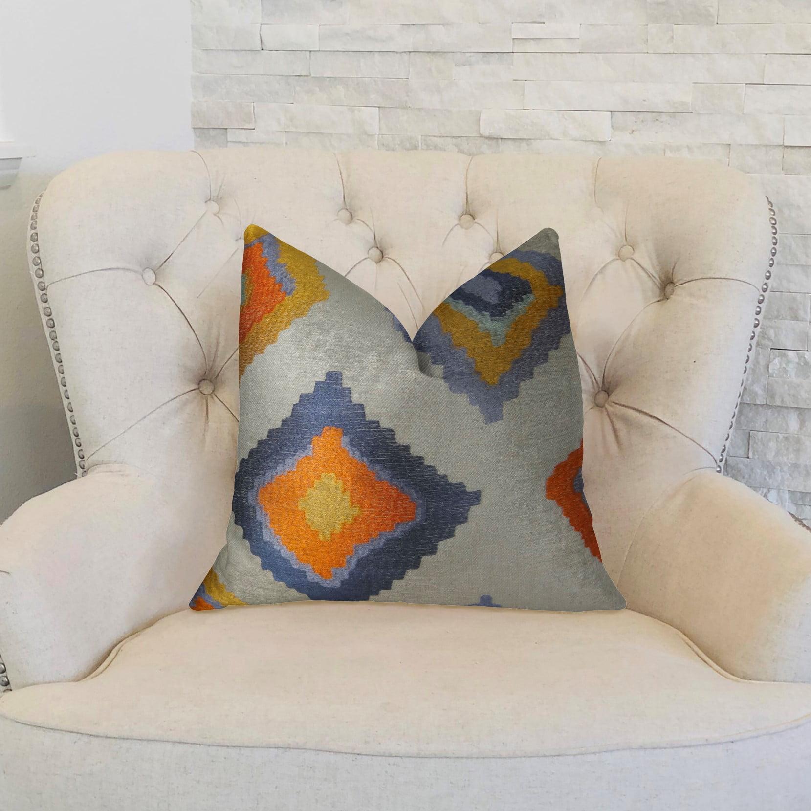 Plutus PBRAZ360-2026-DP Isabeau Purple Orange & White Handmade Luxury Pillow, 20 x 26 in. Standard - image 2 of 3