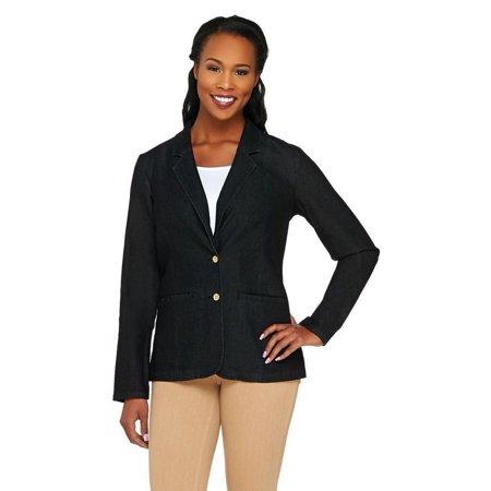 Liz Claiborne NY Denim Blazer Pockets A262191