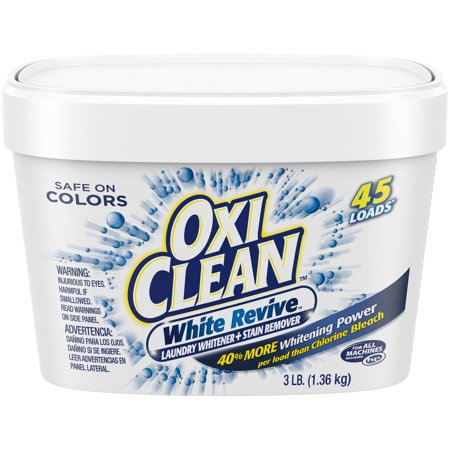OxiClean White Revive Laundry Whitener + Stain Remover, 3 (Vanish Oxi Action Crystal White On Colours)