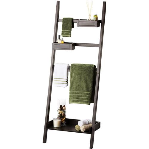 Homz Contemporary Towel Ladder, Espresso