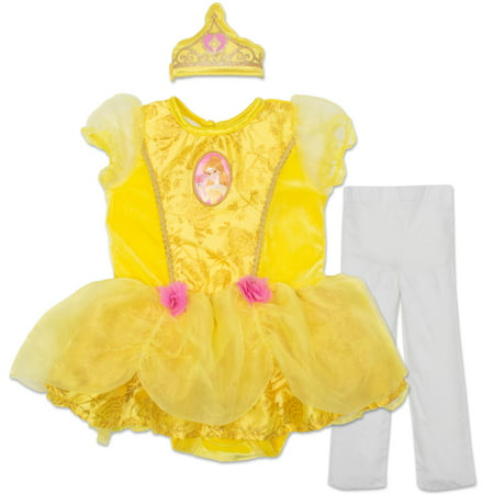 Disney Princess Belle Baby Girls' Costume Tutu Dress, Headband and - Babygirl Costumes