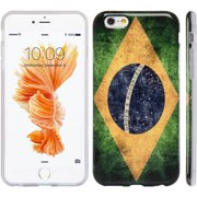 Mundaze Apple iPhone 6 Plus/6S Plus Vintage Style Brazil Flag Phone Case