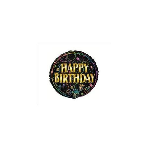 Unique Industries 18044 Birthday Brilliance 18 inch Foil Balloon Packaged Pack of 6