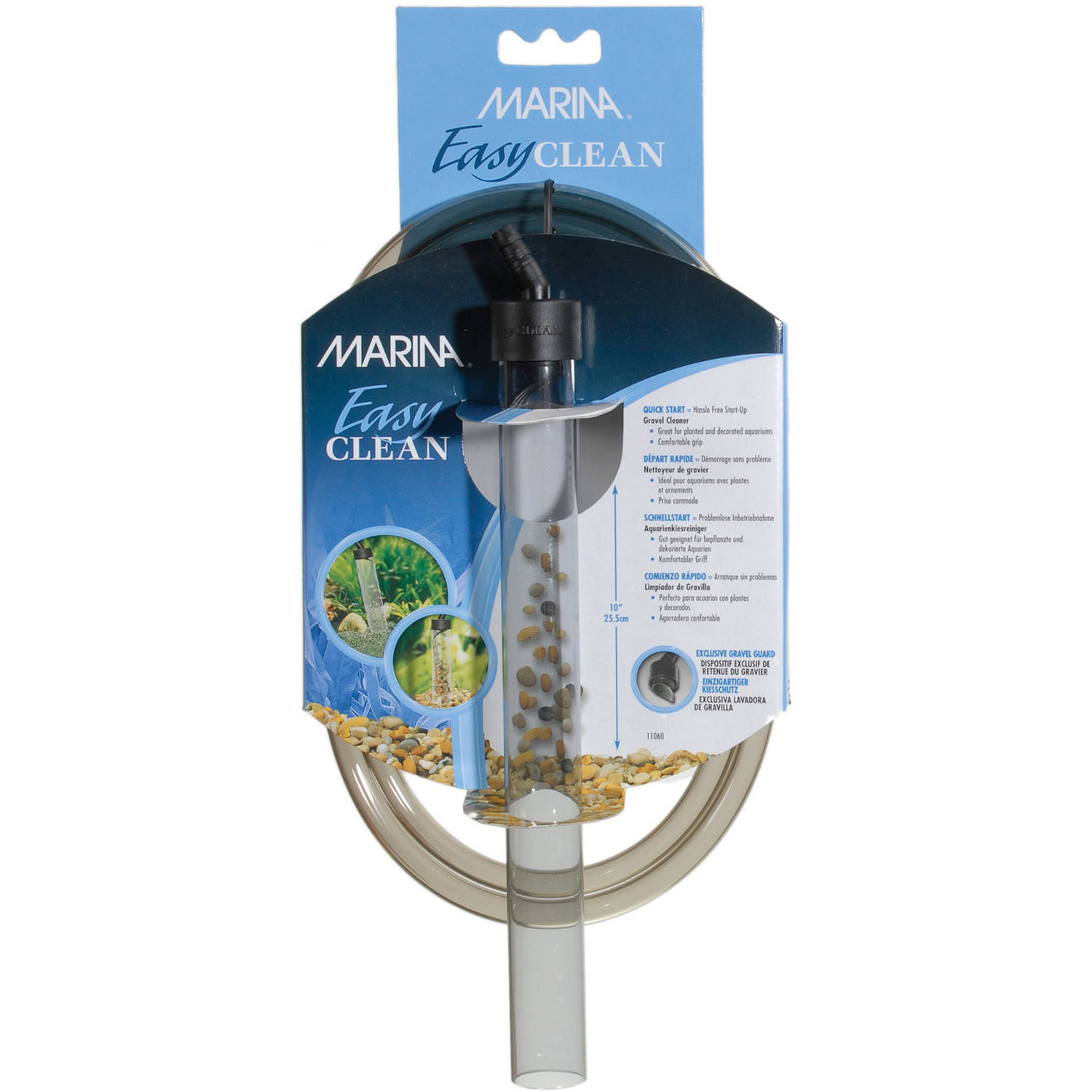 "Marina Gravel Cleaner, Mini, 10"", 1"" dia., w/6' Tube"