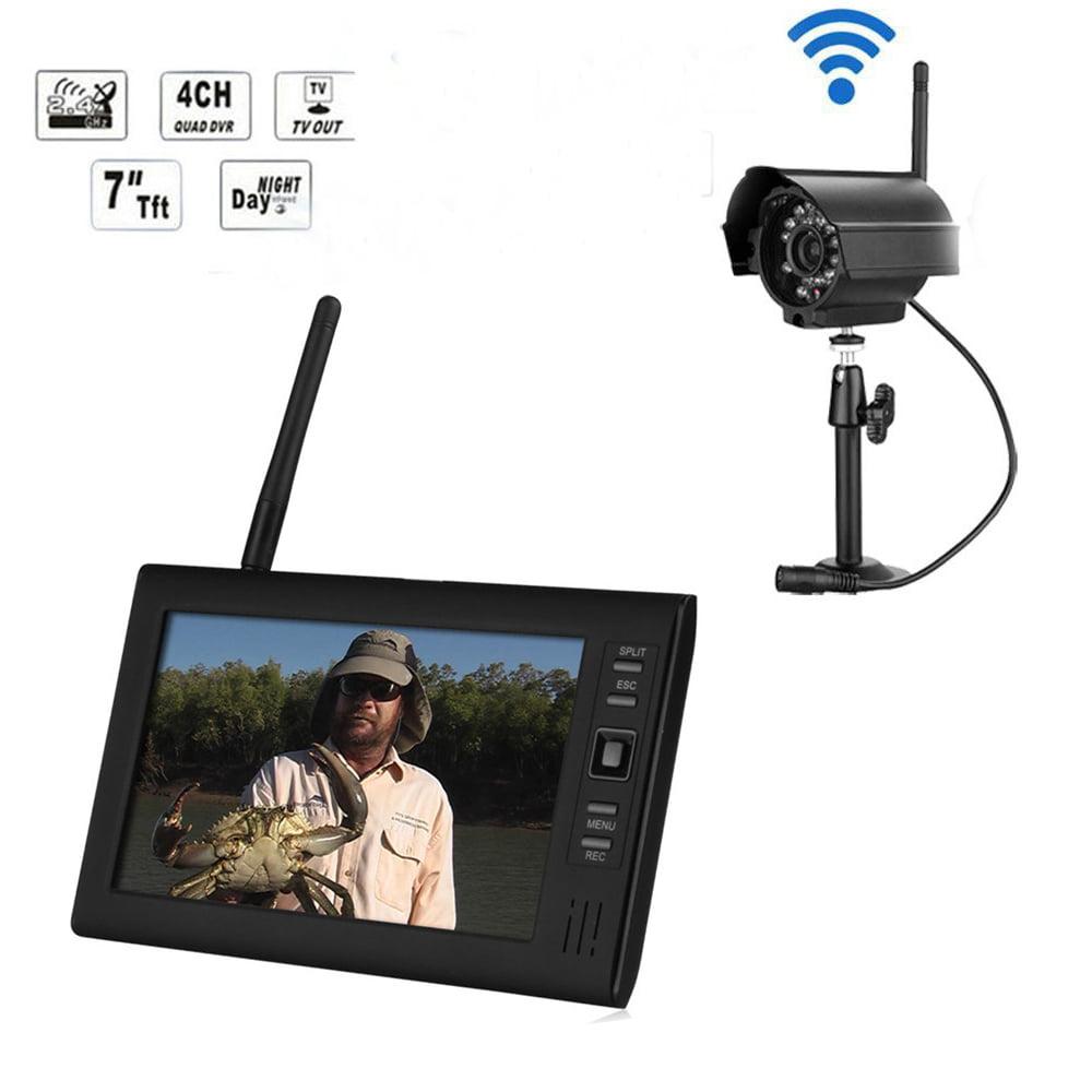 Ktaxon Wireless 2.4GHZ 4CH DVR Digital Home Security Nigh...
