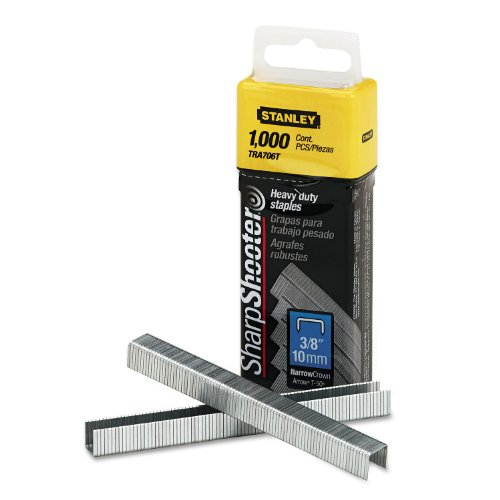 STANLEY Narrow Staples,HD,27/64x3/8,PK1000 TRA706T
