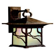 Kichler Morris Outdoor Wall Lantern - 13.5H in. Distressed Copper