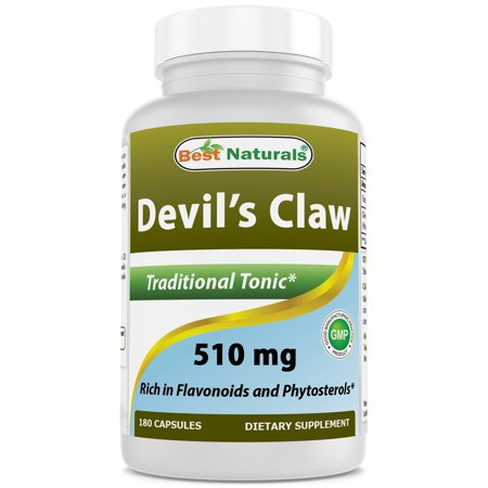 510 Natural (Best Naturals Devil's Claw 510 mg 180)