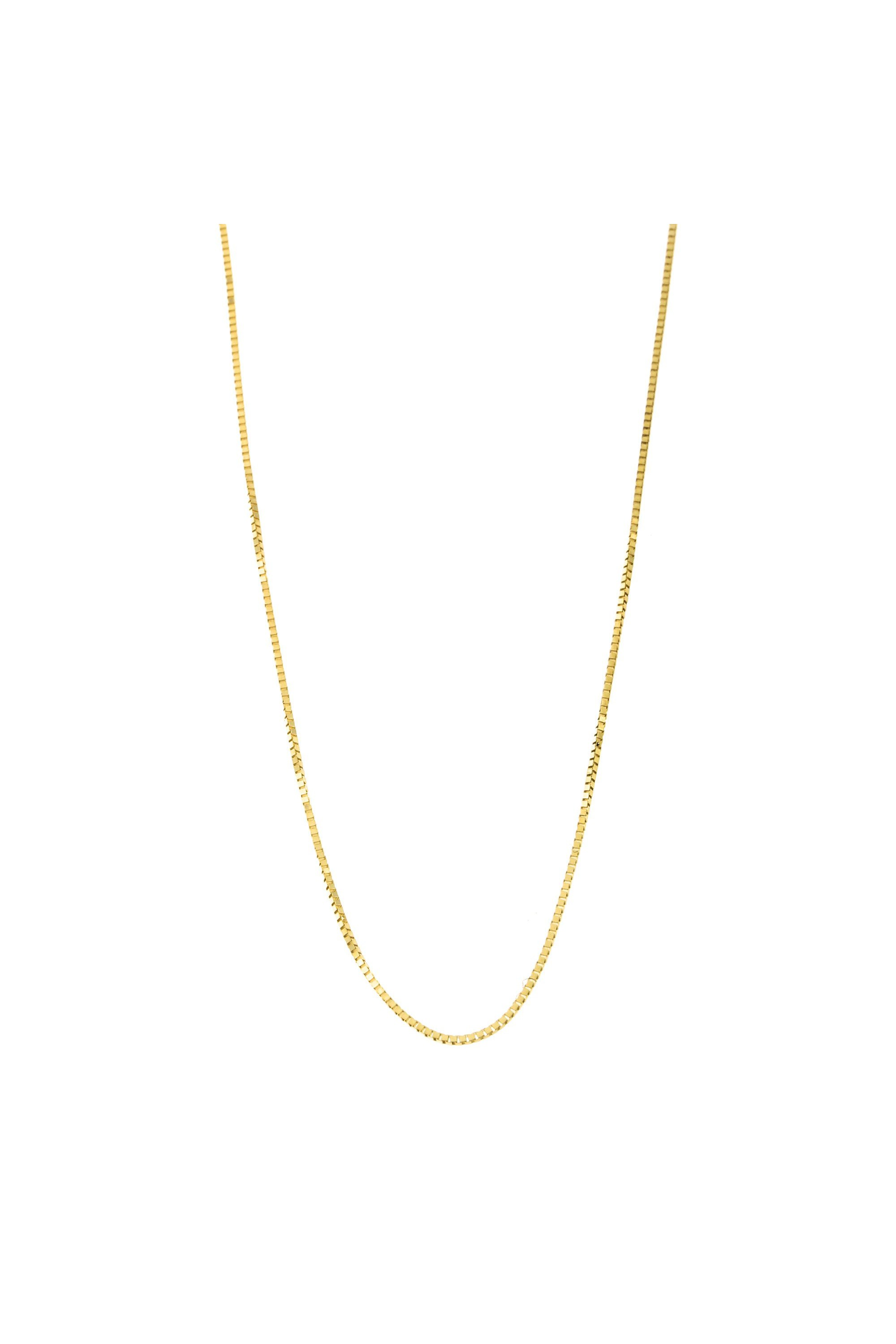 """1.0mm 18K Yellow Gold Box Chain 16/"""" 18/"""" 20/"""" 24/"""" or 30/"""" Made in Italy"""