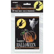 Ghostly Halloween Treat Bags, 50-Count