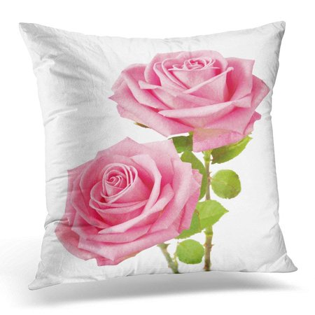BSDHOME Pink Flower Bunch of Rosy Roses White Green Wedding Pillow Case Pillow Cover 18x18 inch - image 1 of 1