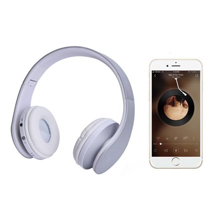 Fordawn Bluetooth Headphones Wireless Over Ear Headset With Microphone Mp3 Mode And Fm Radio For Cellphones Laptop Tv Silver Walmart Canada