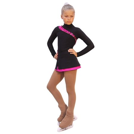 IceDress Figure Skating Dress - Lasso(Black with Fuchsia) (Best Figure Skating Dresses)