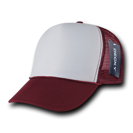 DECKY Curved Bill Plastic Snap 2 Tone Trucker Cap, Style 210