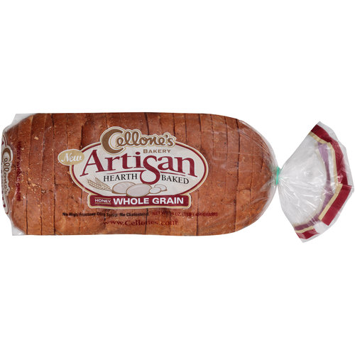 Cellone's Bakery Artisan Heart-Baked Honey Whole Grain Bread, 16 oz