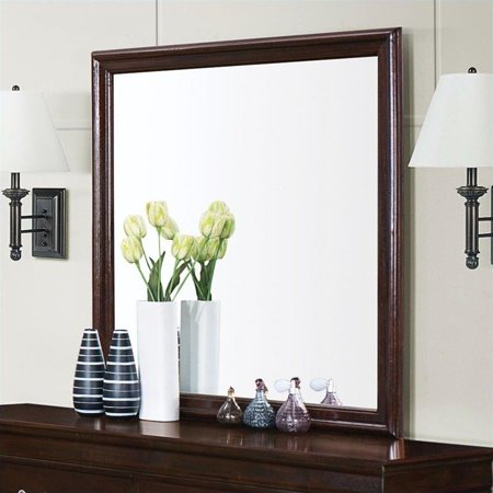 - Coaster Company Louis Philippe Collection Square Mirror in Cappuccino