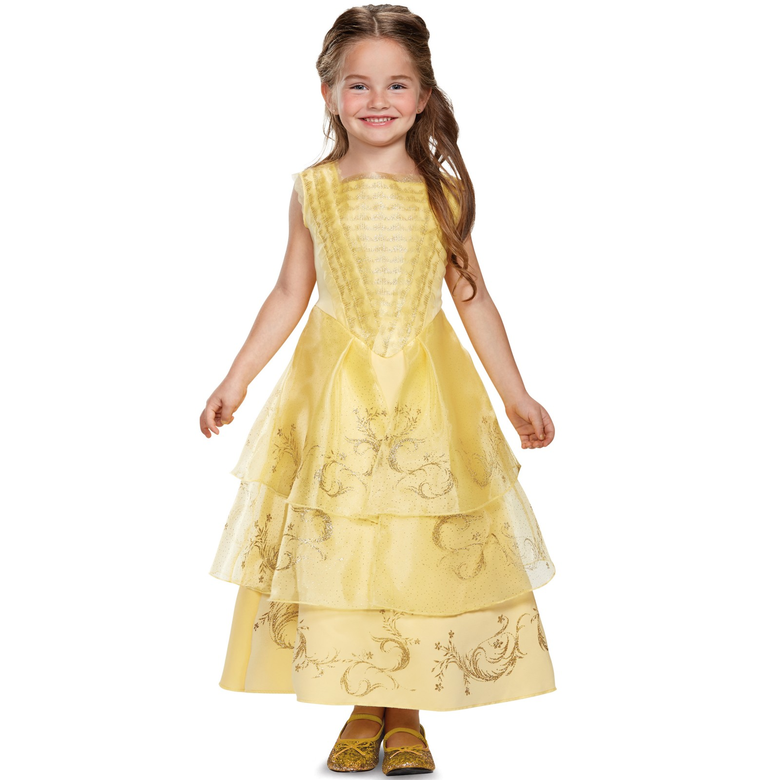 Disney beauty and the beast: belle ball gown deluxe toddler costume 3-4t