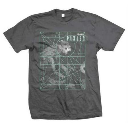 Tsurt TSU-PIX70031-M Pixies Monkey Grid T-Shirt - Dark Gray - Medium - image 1 of 1