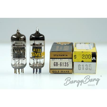 2 Vintage Sylvania 6135/GB6135/CV4022 Triode Tube Valve - BangyBang Tubes