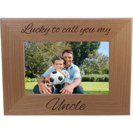 Lucky To Call You My Uncle - 4x6 Inch Wood Picture Frame - Great Gift for Birthday, or Christmas Gift for Brother, Brothers, Uncles