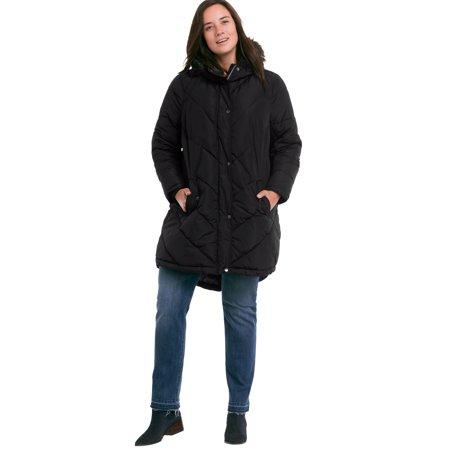 Ellos Plus Size Faux Fur Hooded Parka