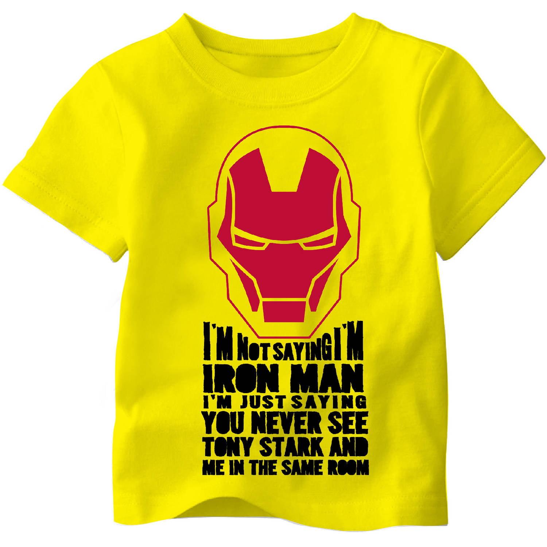 Iron Man Toddler Boy Tony Stark Tee Shirt