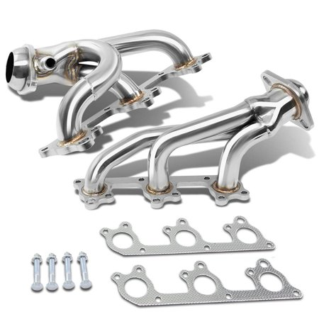 For 2005 to 2009 Ford Mustang 2x3 -1 Design Stainless Steel Exhaust Header Kit (Polished Chrome) 4.0L V6 06 07