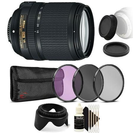 Nikon AF-S DX NIKKOR 18-140mm f/3.5-5.6G ED Vibration Reduction Zoom Lens with Auto Focus for Nikon DSLR Cameras with Accessories (Nikon Camera Lens Accessories)