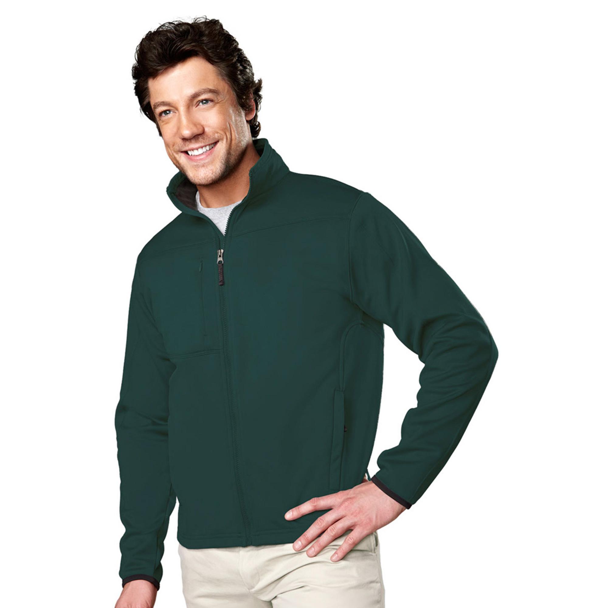 Tri-Mountain Men's Big And Tall Full Zip Fleece Jacket